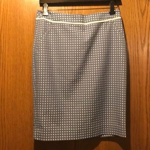 Skirt  New with tags periwinkle with white dots